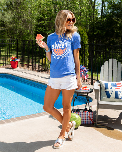 Sweet Land Of Liberty Graphic Tee - Blue