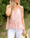 Sweet Like Sunday Tank - Light Blush