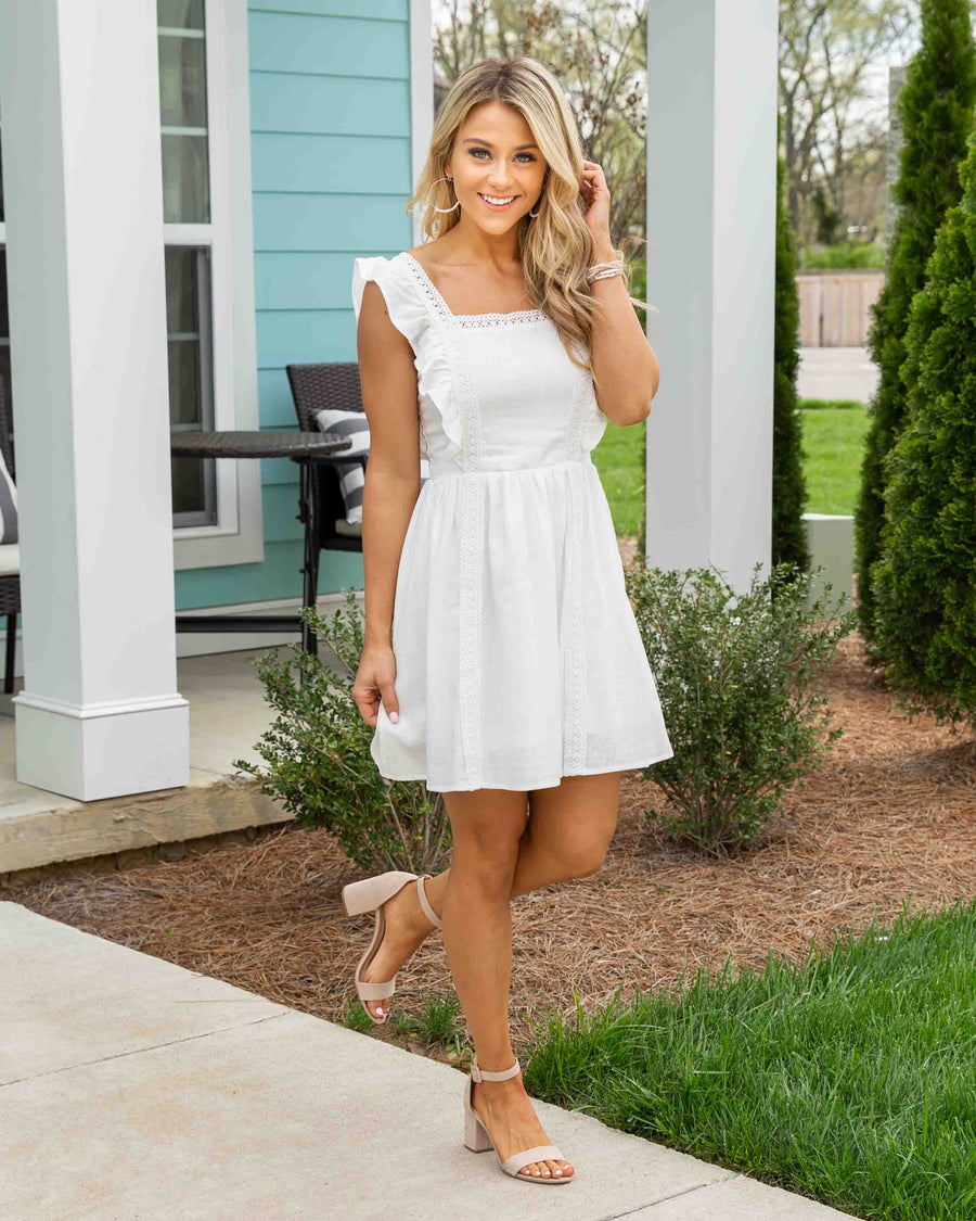 Sweet Summertime Dress - White