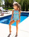 Sweet As Sunshine Floral Tankini - Aqua