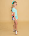 Sweet Secrets Floral Pocket Top - Mint