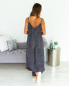 Take Me To The Beach Jumpsuit - Navy