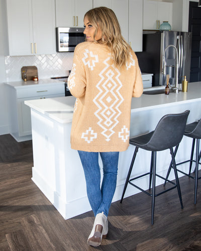 Take Me To The Mountains Cardigan - Butterscotch