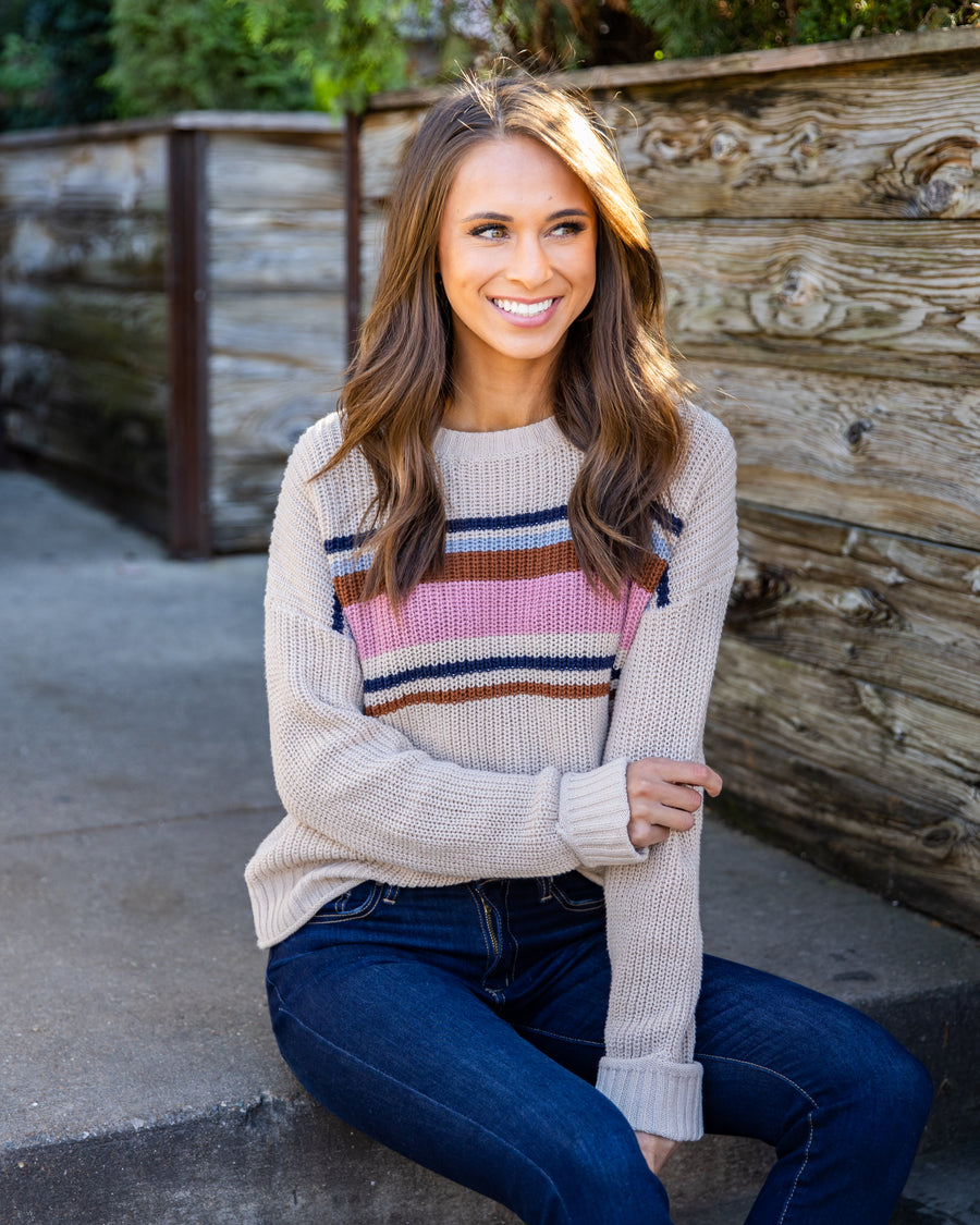 Take The Leap Sweater - Oatmeal
