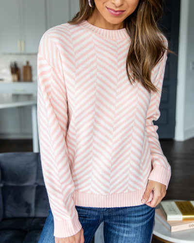 Take Your Pick Sweater - Light Pink