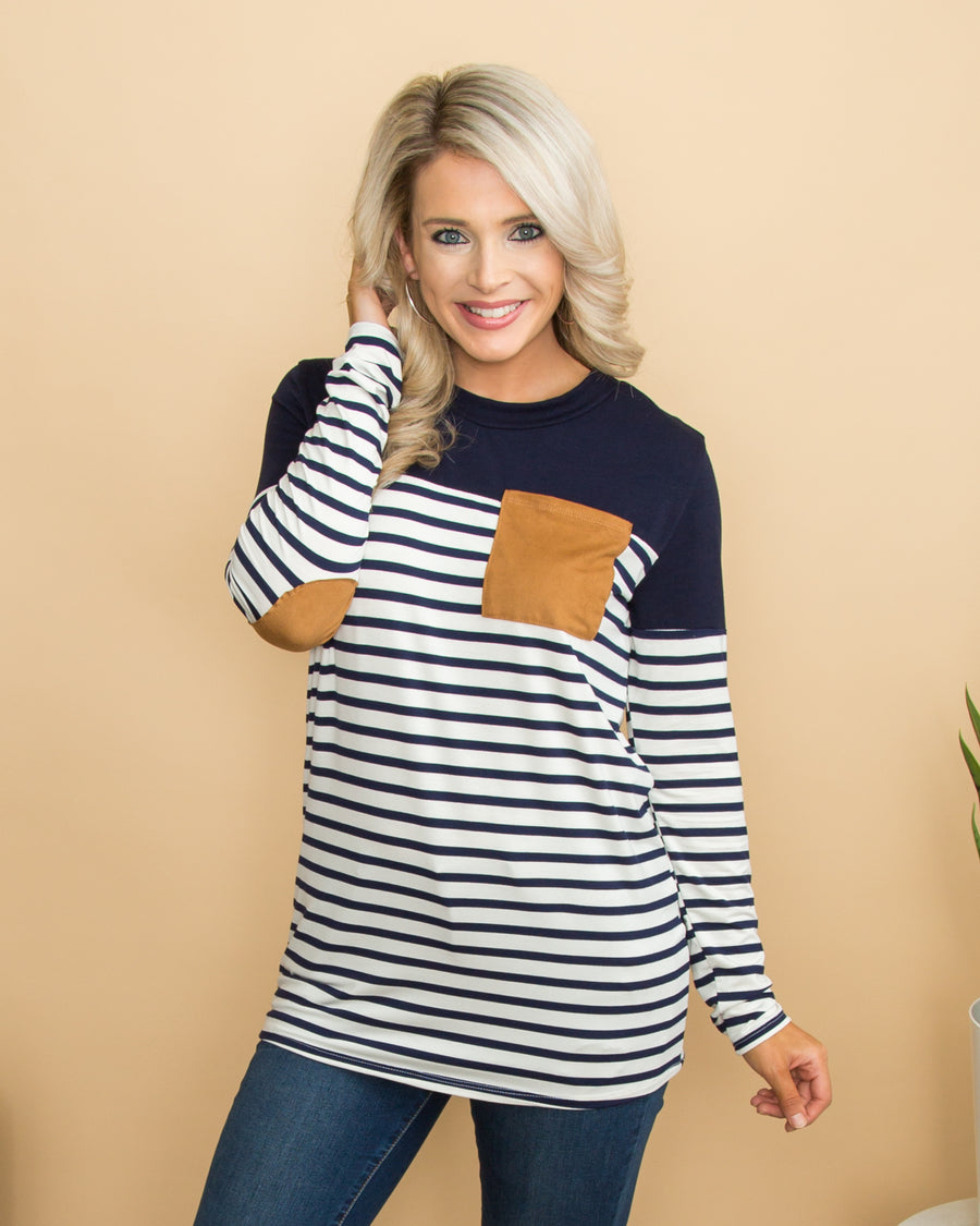 Take On The Day Top - Navy