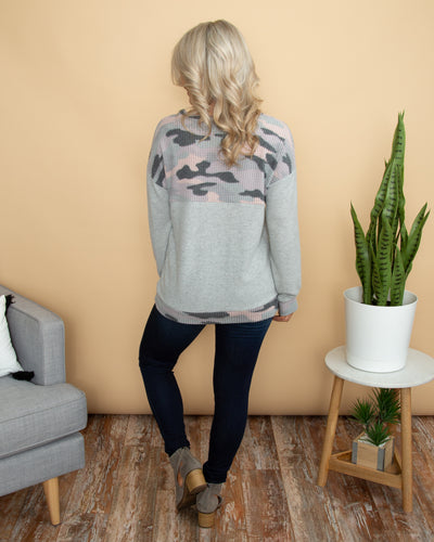 Taking A Stand Top - Heather Grey