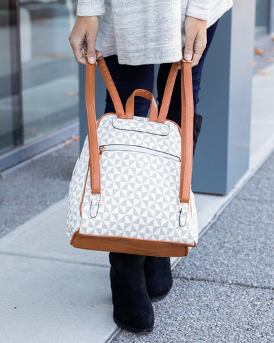 Taylor Backpack And Matching Wallet - Beige