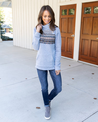 Tell Me All About It Pullover - Grey