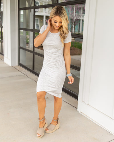 The Perfect Fit Side Ruching Dress - Grey