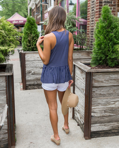 The Simple Life Tank - Navy