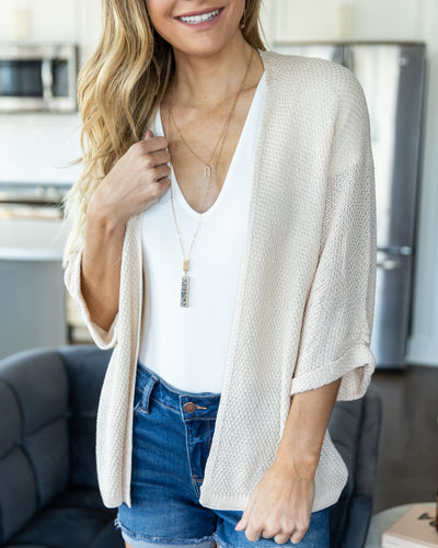 The Soho Cardigan - Cream