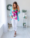 The Soho Cardigan - Turquoise