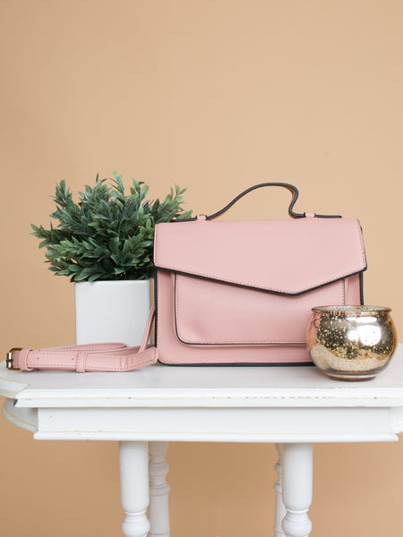 The Alexis Cross-Body Bag - Blush