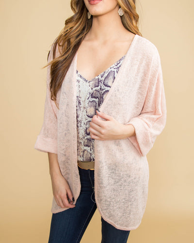 The Best First Impression Cardigan - Apricot