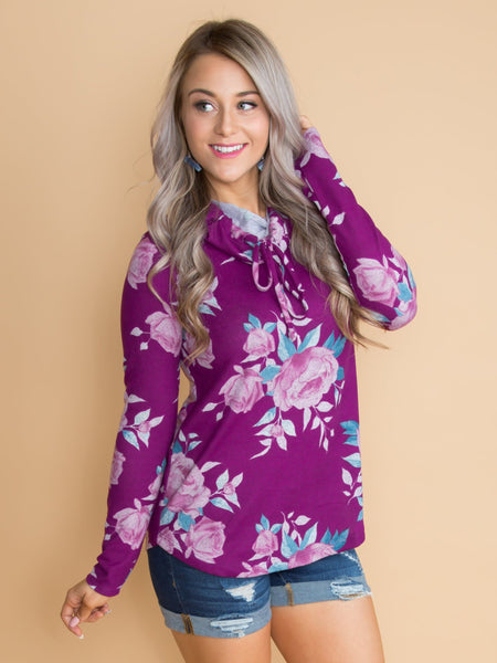 The Best Kind Of Love Floral Top - Deep Orchid