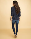 The Briana Stripe Blazer - Navy