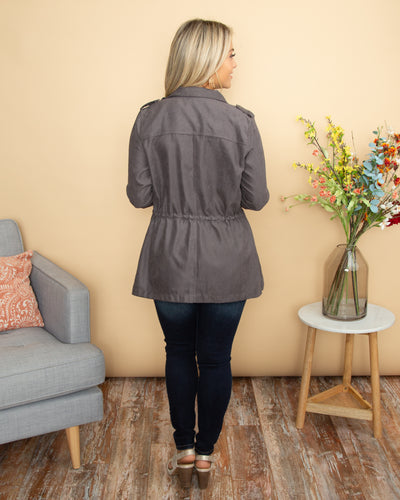 The Chrissy Jacket - Charcoal
