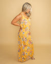 The Love For Daydreams Criss Cross Floral Maxi - Mustard