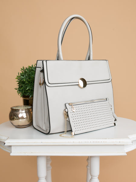 The Natalia Handbag - Lt Grey