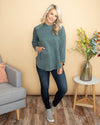 The Nina Pullover - Dusty Teal