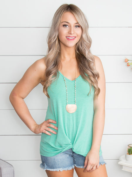 The One You're Missing Knot Tank - Mint