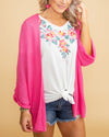 The Soho Cardigan - Hot Pink