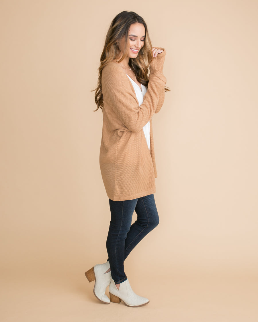 The Studio Cardigan - Camel