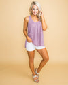 The Thought Of Love Polka Dot Tank - Lavender