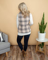 Through Thick and Thin Plaid Vest - Taupe