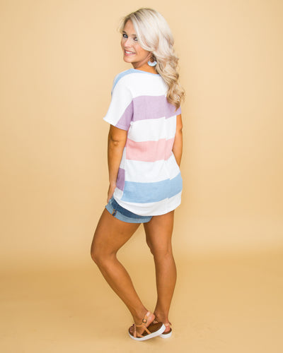 Throw Me a Kiss Color-Block Top - Multi