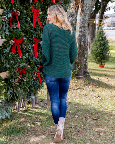 Ticket To Cozy Sweater - Forest Green