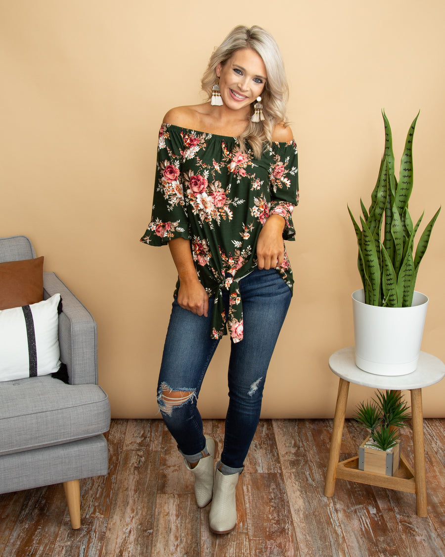 Timeless Beauty Top - Forest Green