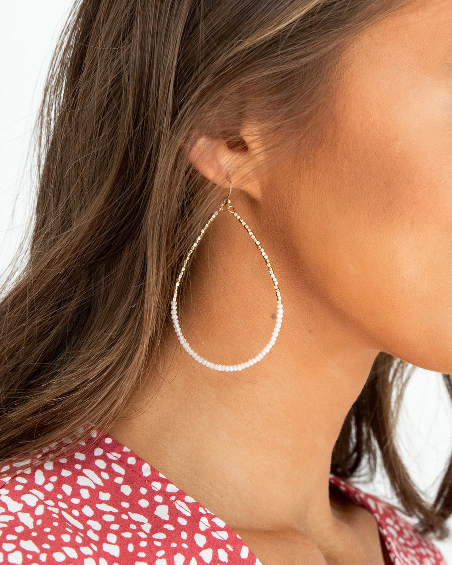 Tinsley Earrings - Cream