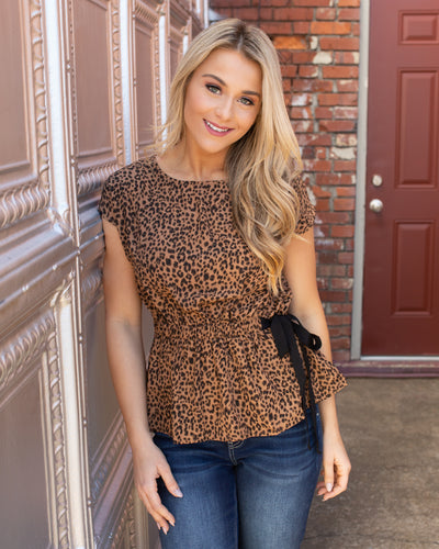 Toast Of The Town Top - Leopard