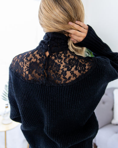Touch Of Elegance Sweater - Black