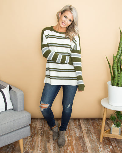 True Connection Sweater - Olive