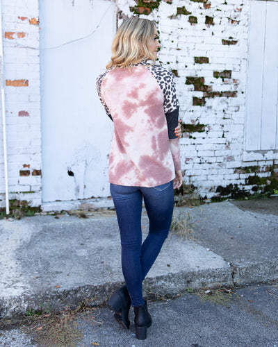 Turn Back Time Top - Mauve Multi