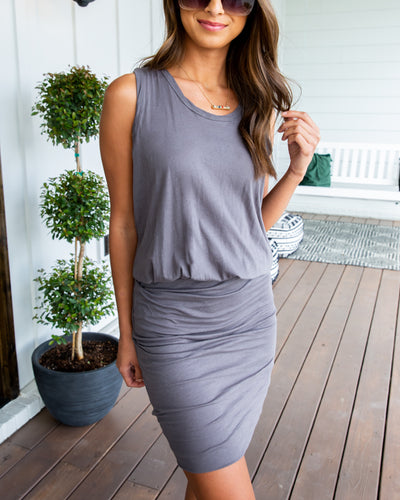 Turn Of Events Dress - Grey