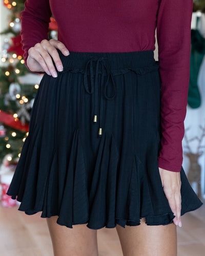 Twirl Me Around Skirt (With Shorts) - Black