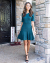 Twirl With Me Dress - Dark Teal