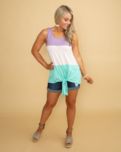 Unstoppable Charisma Color-Block Tank - Purple Multi