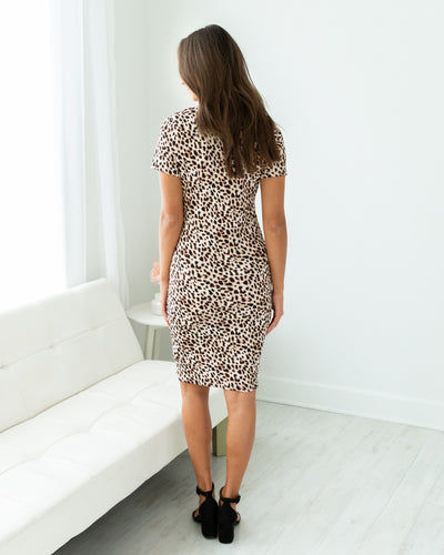 Up For A Good Time Dress - Leopard