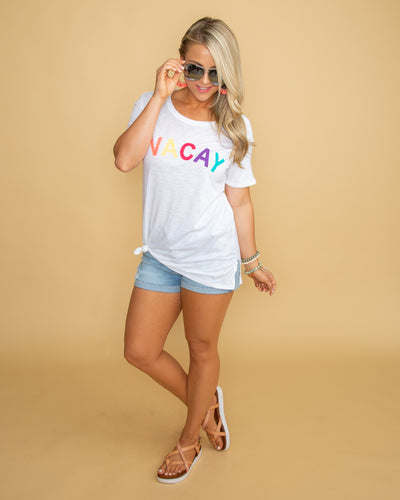 Vacay Graphic Tee - Off White