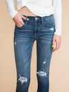 Valerie Distressed Skinny Jean - Medium Wash