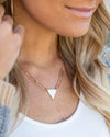 Vanessa Triangle Necklace - Gold
