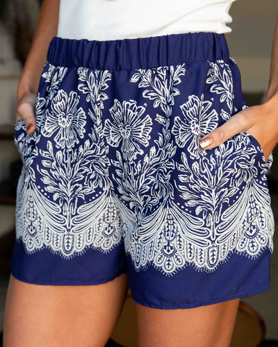 View From The Meadow Shorts - Navy