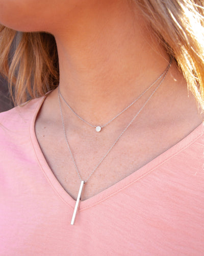 Virginia Layered Necklace - Silver