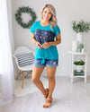 Walk In The Park Top - Turquoise