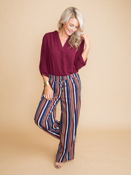 Walk The Line Stripe Pant - Multi